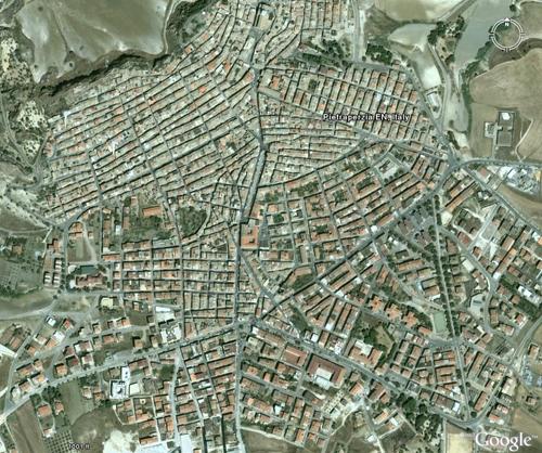 Pietraperzia plan at 1000 feet