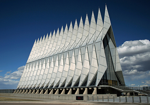 Air Force Academy chapel photo by Bryan Chang