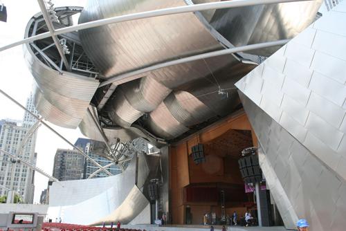 Pritzker Pavilion front by dgphilli