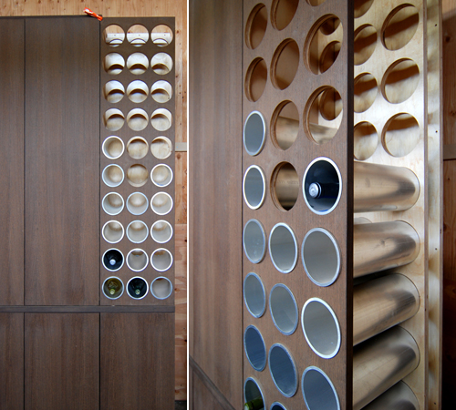 built in wine rack designs