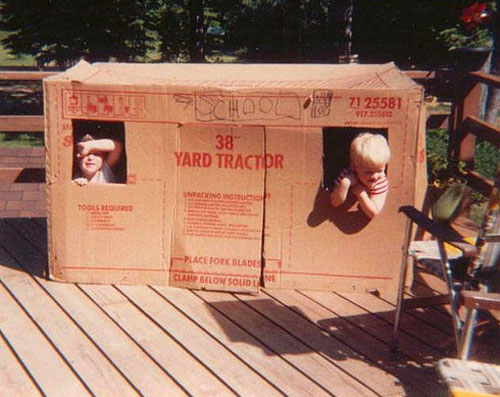 forts for kids. Give most kids an appliance