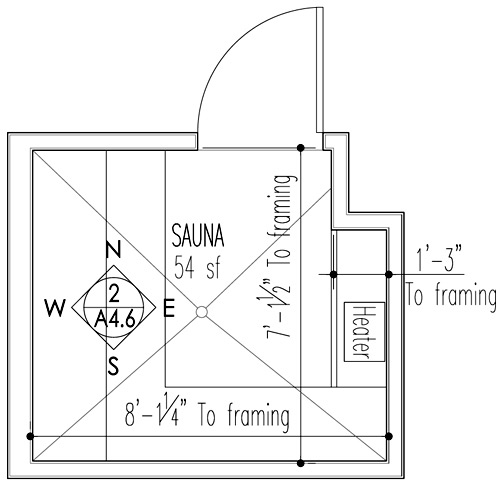 Sauna design construction build blog for Sauna floor plans