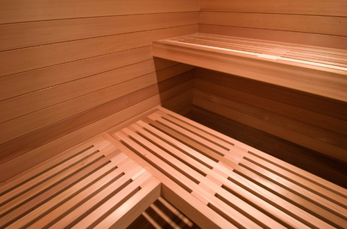 sauna bench design
