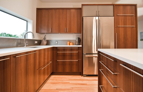 walnut veneer kitchen cabinets keeping the character a mid century remodel build 28162