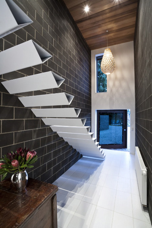 Cool Ribbon Staircase By HSH Architects.