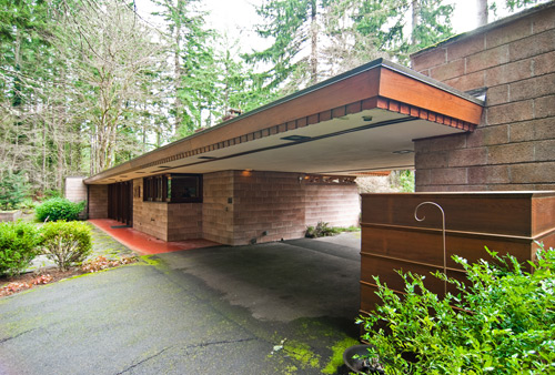 Northwest usonian build blog for Modern frank lloyd wright house plans