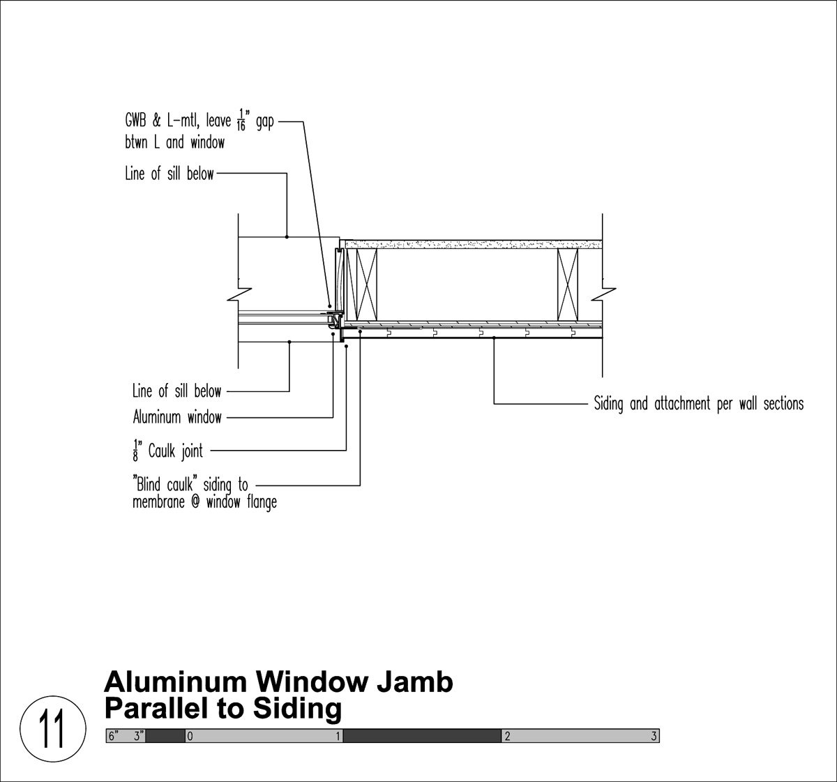 Casement window casement window jamb detail for Door jamb detail