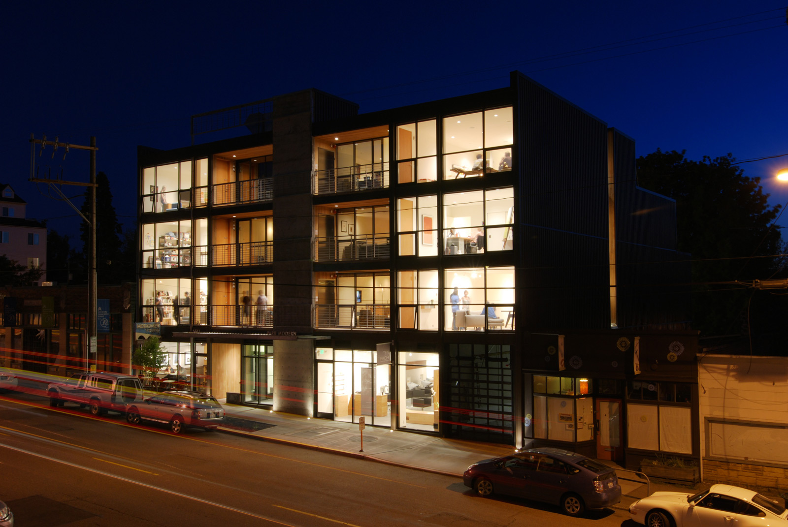 The process of commercial work build blog for Building exterior lighting design
