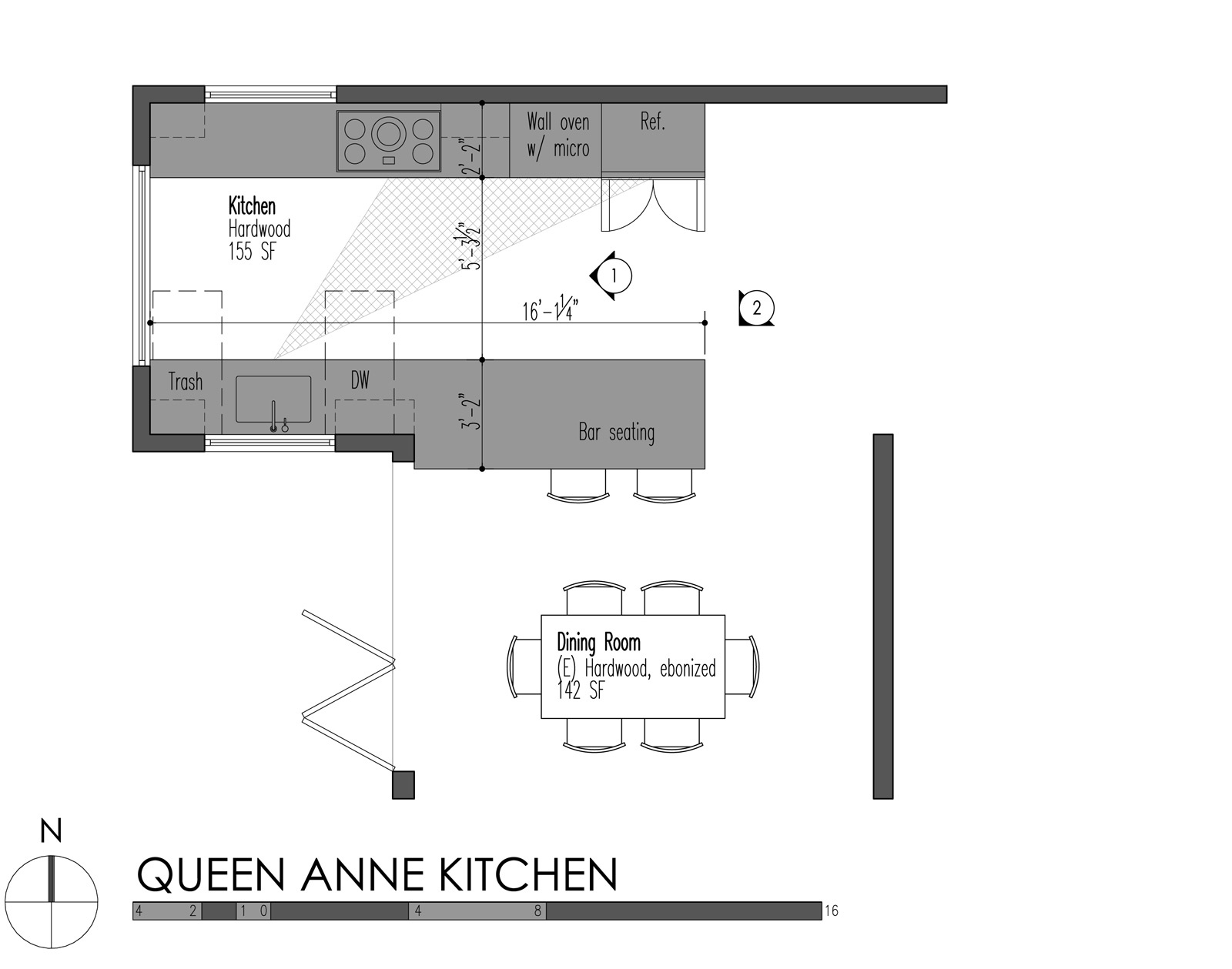 Kitchen construction design and layout - Build Llc Queen Anne Kitchen Plan