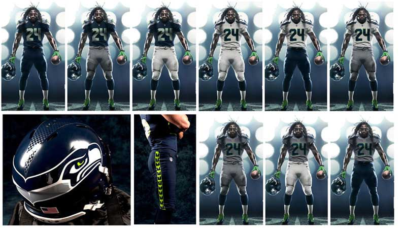 Seahawks Marshawn Lynch Nike College Navy Limited Jersey A Design Guide To The Super Bowl BUILD Blog