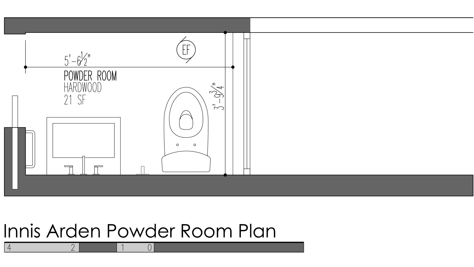 Powder room plans the image kid has it for Powder room layout