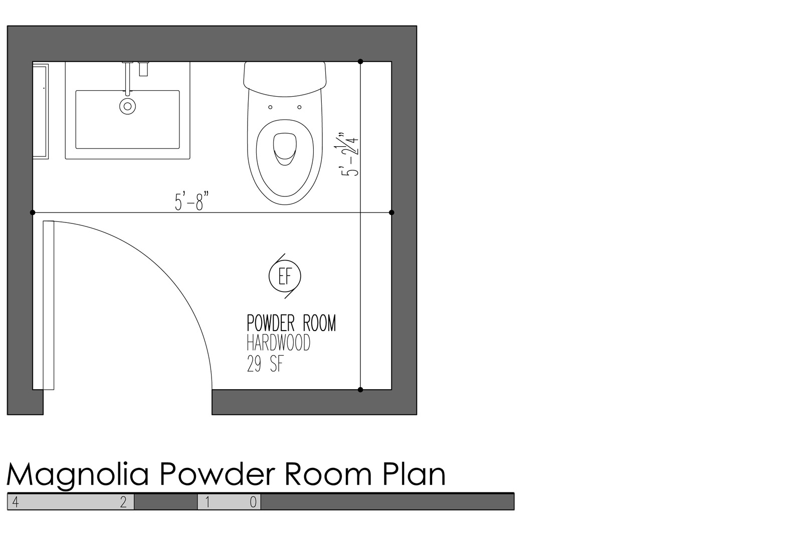 5 design features for modern powder rooms build blog for Smallest powder room size