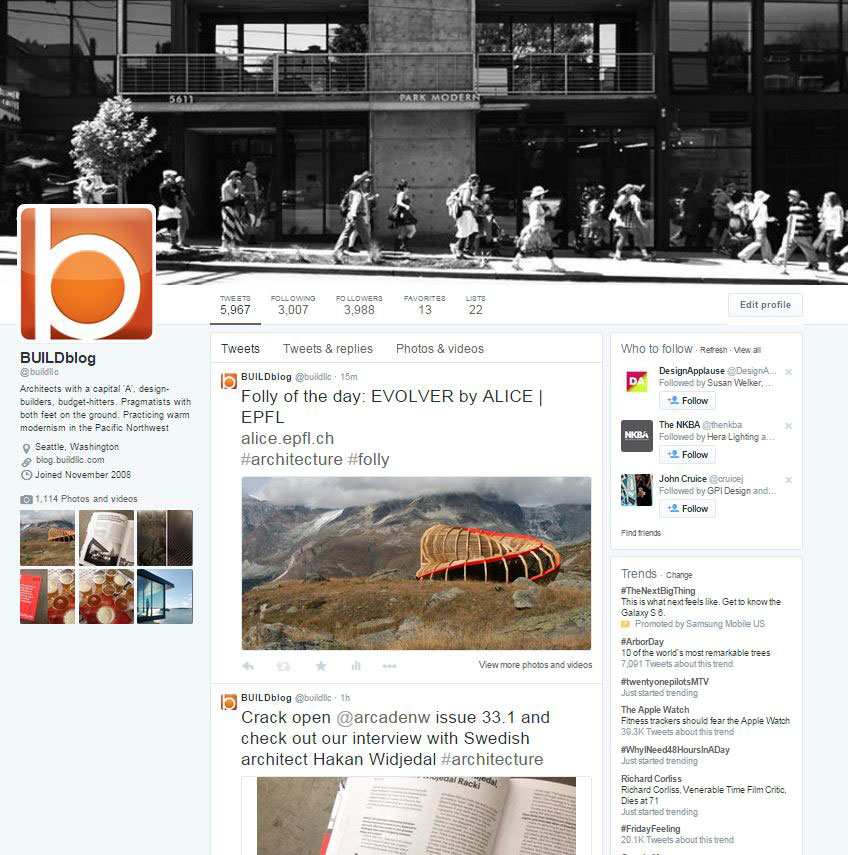 Top Five Social Media Tips for Architects | Build Blog
