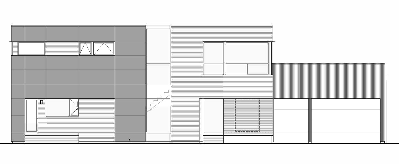 Building Elevation Plan Part - 34: Because The Massing Of The Residence Is A Simple 4-sided Volume, The Design  Of The East Elevation Was Just As Much An Exercise In Graphic Design As It  Was ...
