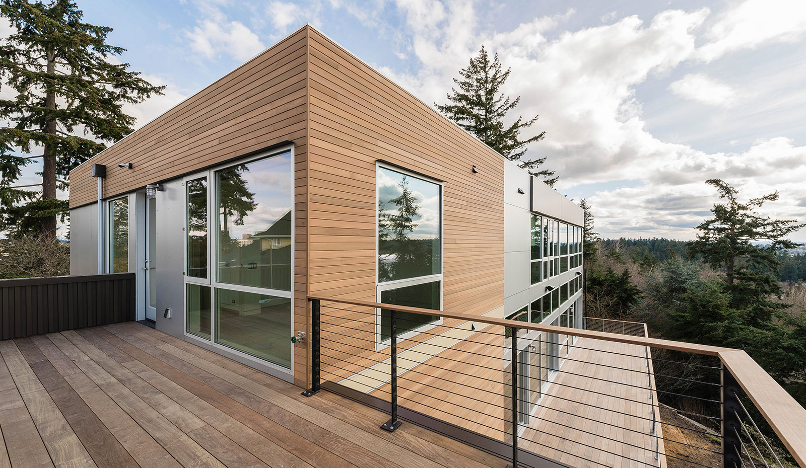 Delightful The Technical Methods Behind The East Elevation Involve Two Siding  Strategies. The Horizontal 1×4 Tu0026G Cedar Siding Sits On A Conventional  Rainscreen ...
