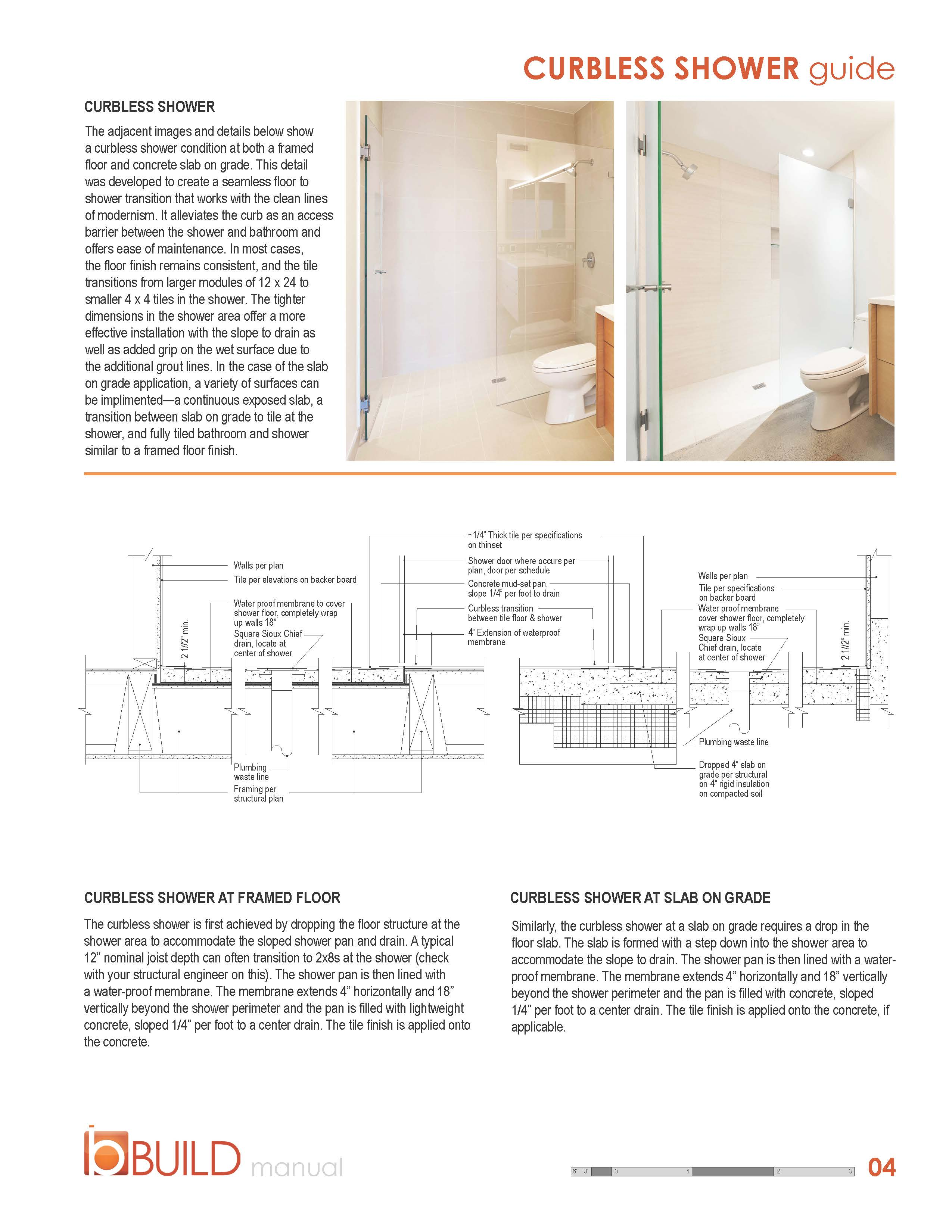 Curbless Shower Guide Build Blog